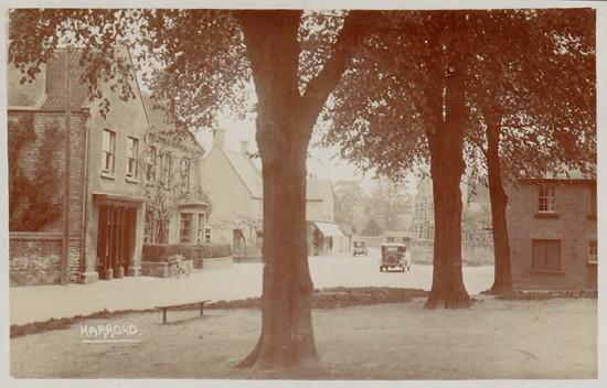 Centre of the village of Harrold circa 1890