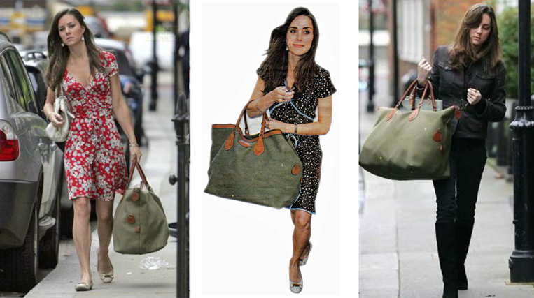 The Duchess of Cambridge has often been snapped with her TUSTING Explorer in Olive Canvas