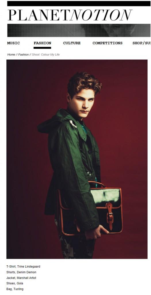 The Wymington in Notion Magazine Photoshoot