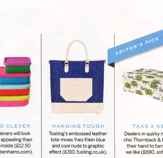 Stylist Magazine - Coverage of the TUSTING Taw Tote
