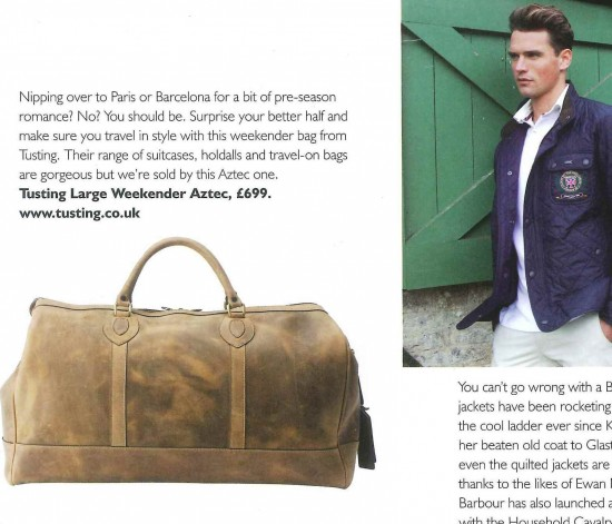 Coverage of our Weekender Holdall in Aztec
