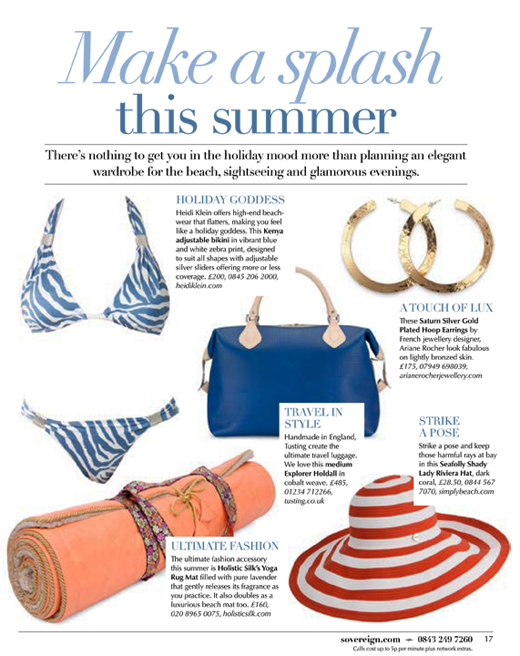 Arrival Magazine Coverage of the Tusting Cobalt Weave Explorer Leather Holdall