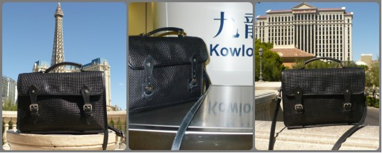 The Travels of a Black Woven Leather Satchel