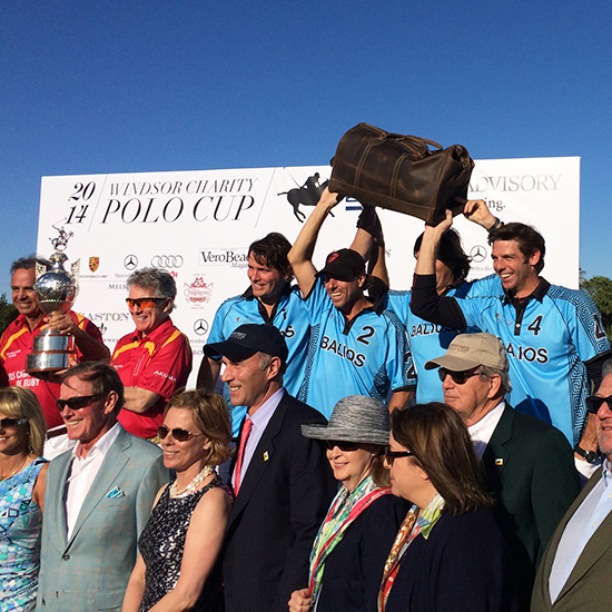 The blues, headed by Salvatore Ferragamo (furthest left) rather wish THEY had won the bags....