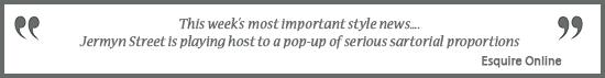 TUSTING Pop UP | Esquire Quote