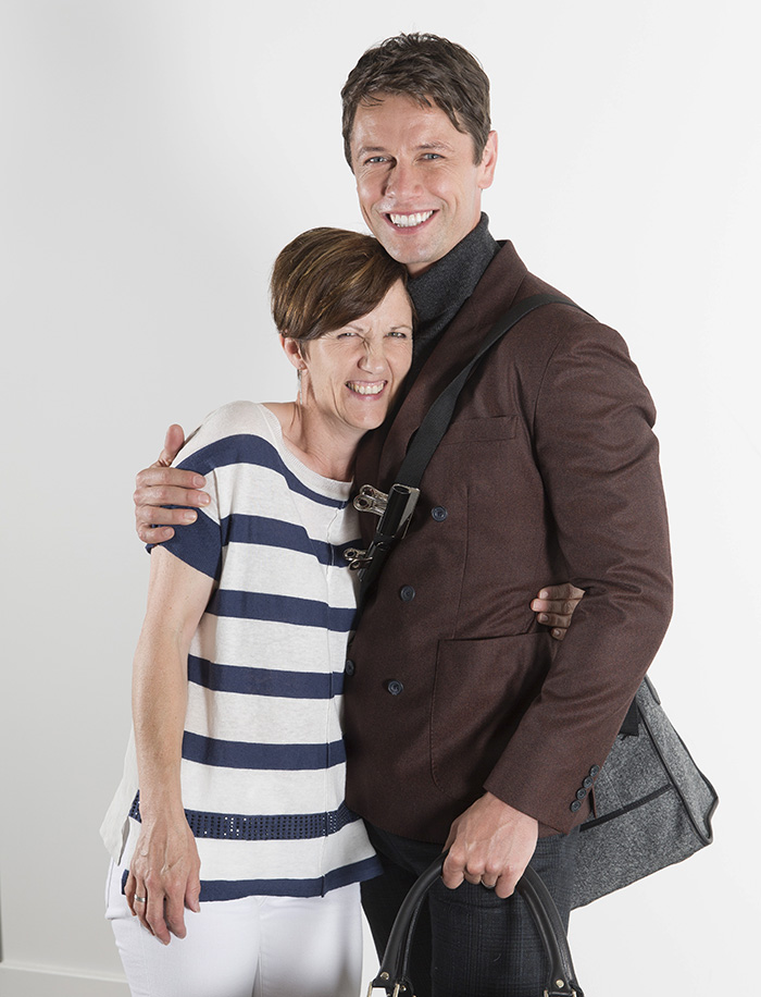 Leon Ockenden and Gillian Tusting at the Tusting AW15 photoshoot