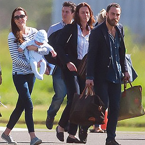 The Duchess of Cambridge and the Middletons on Holidays with TUSTING luggage bag