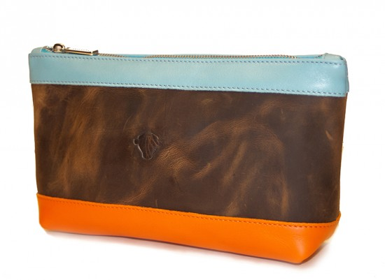 Bespoke TUSTING Bag: Leather Make Up Pouch designed by Poppy Dinsey