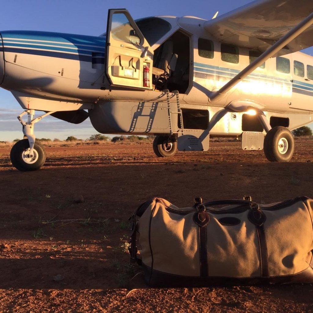 Jack Guiness Takes his Tusting Canvas Weekender Bag as Holiday Luggage to Kenya