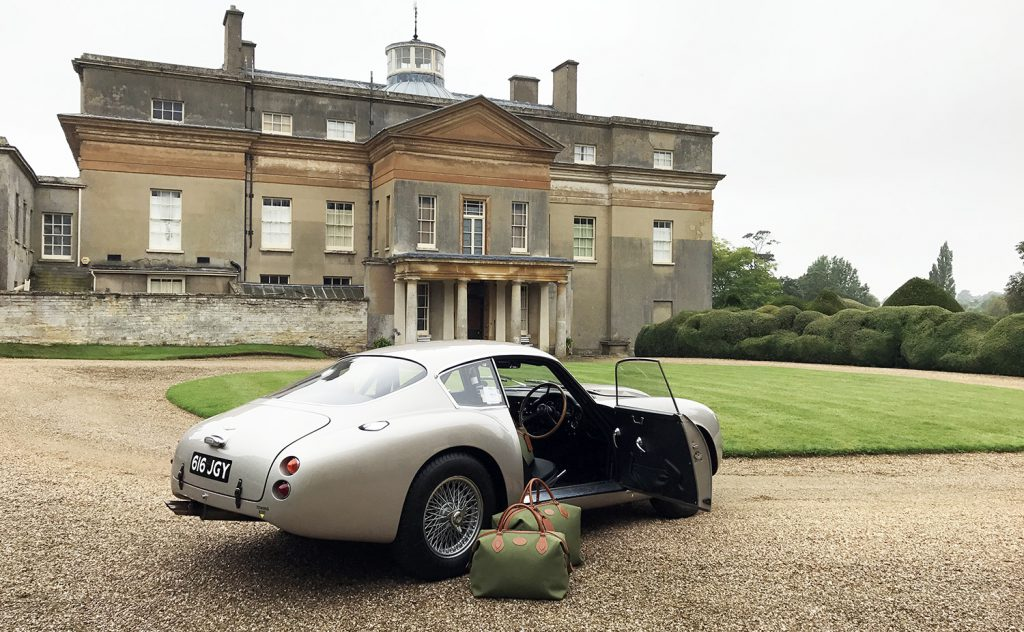 Tusting and Aston Martin at Turvey House for a Luxury Leather Luggage Photoshoot