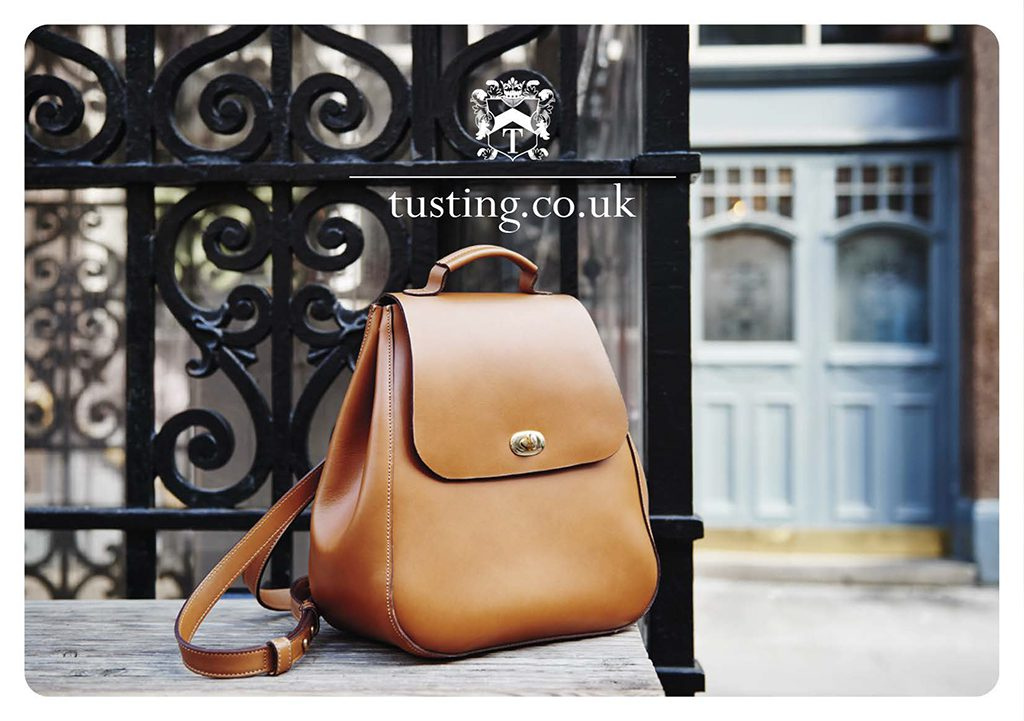 The Tusting Eliza luxury leather backpack in tan