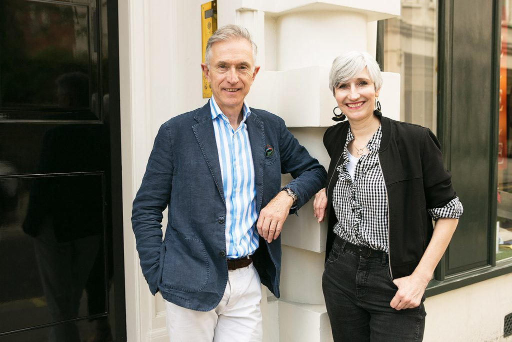 Sarah Gilfilan the Sartorialab stylist and David Evans the Grey Fox blogger
