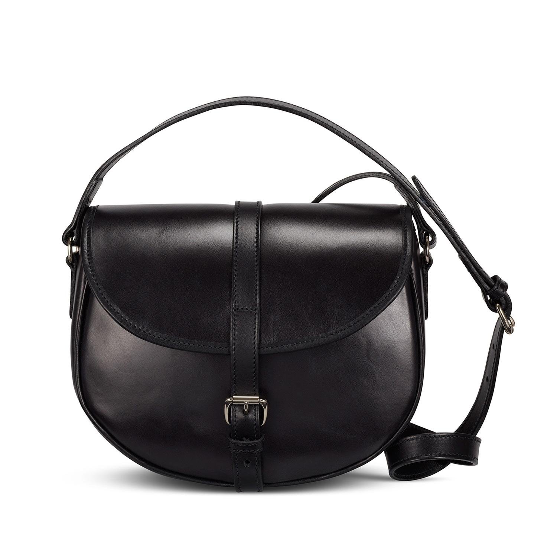 Tusting Cardington Leather Crossbody Handbag, large, black