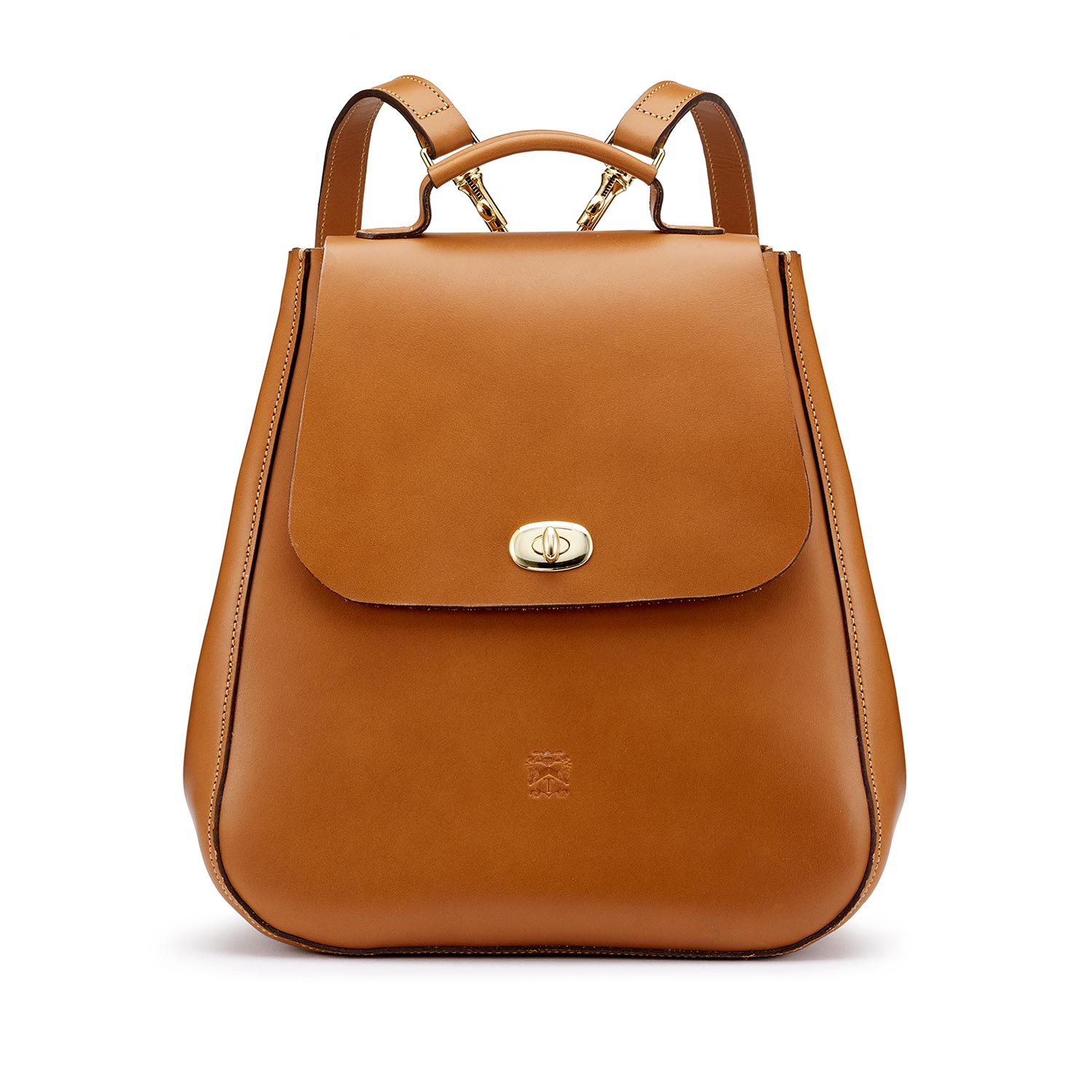 Tusting London Tan Leather Backpack made in britain