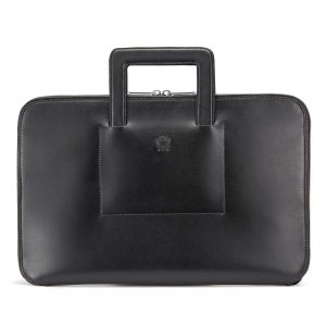 Tusting Westminster Folio Brief in Black Bridle Leather