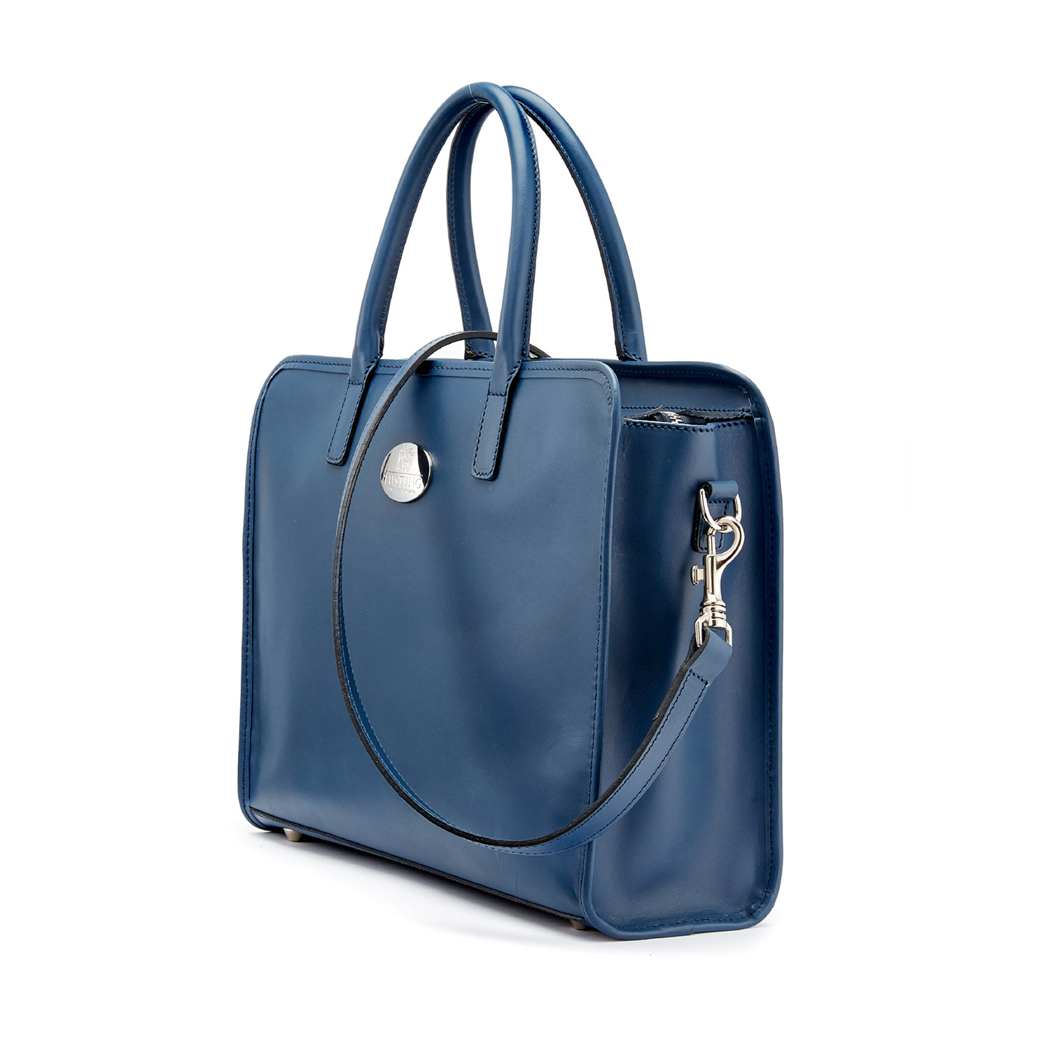 Tusting Catherine in Marine Blue Leather
