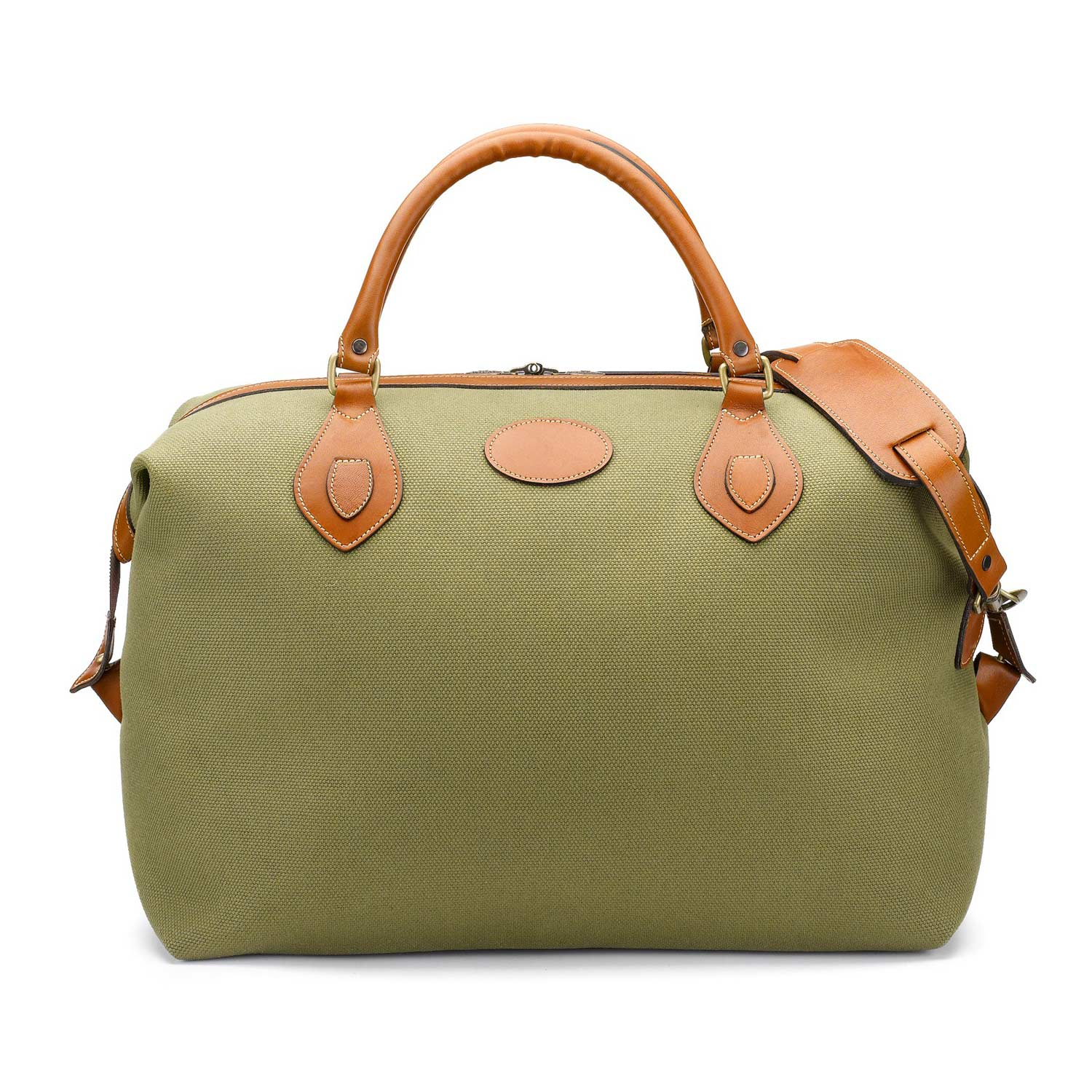 Tusting Medium Sized Olive Canvas and Leather Explorer Holdall