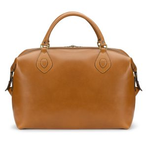 Tusting Medium Sized Tan Leather Explorer Holdall