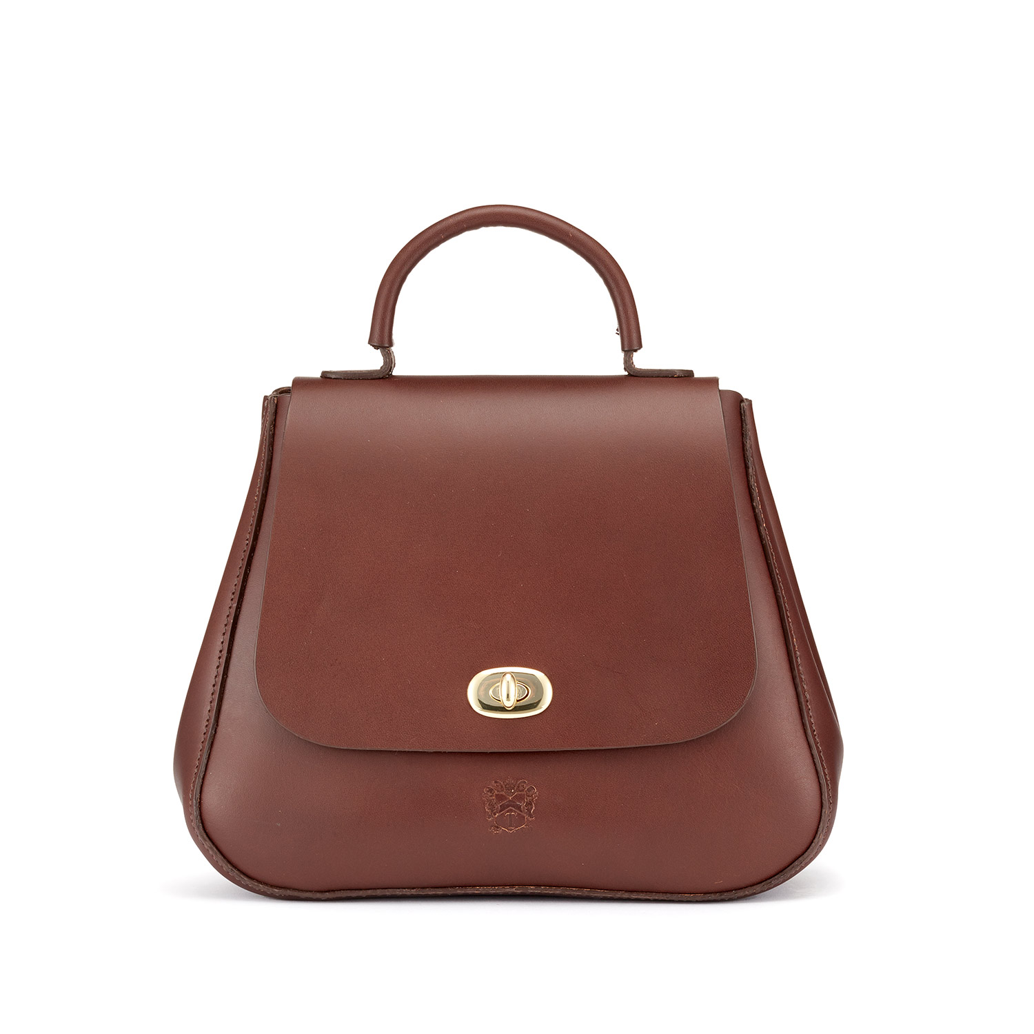 Tusting Holly Leather Top-Handled Handbag in Chestnut