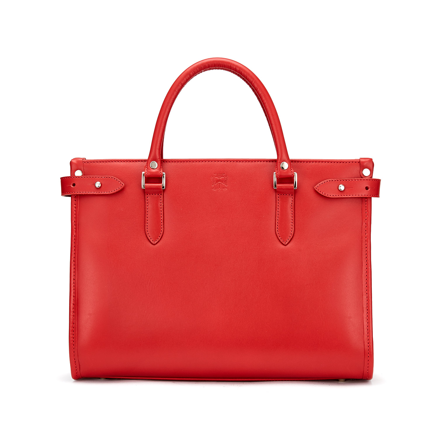 Tusting Kimbolton Leather Tote (small) in stunning red bridle leather