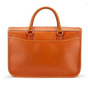 Tusting small leather briefcase - the Marston, made in England