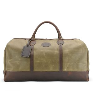 Tusting Weekender Canvas Holdall Large in Lichen