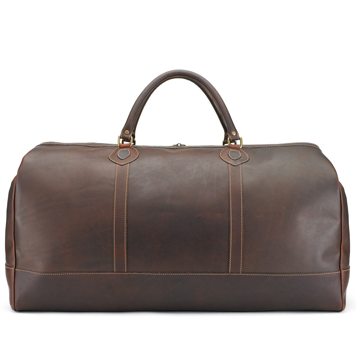 Tusting Weekender Leather Holdall (large) in Sundance
