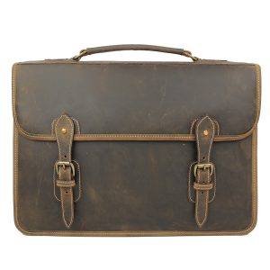 Tusting Wymington Leather Satchel Briefcase in Aztec Crazyhorse