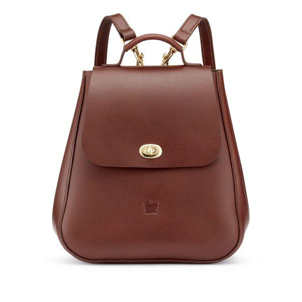 Tusting Eliza Leather Backpack in Chestnut bridle