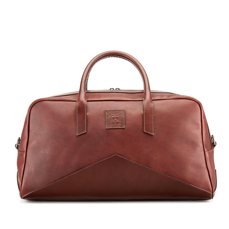 Tusting British-made Hemington Leather holdall in chestnut