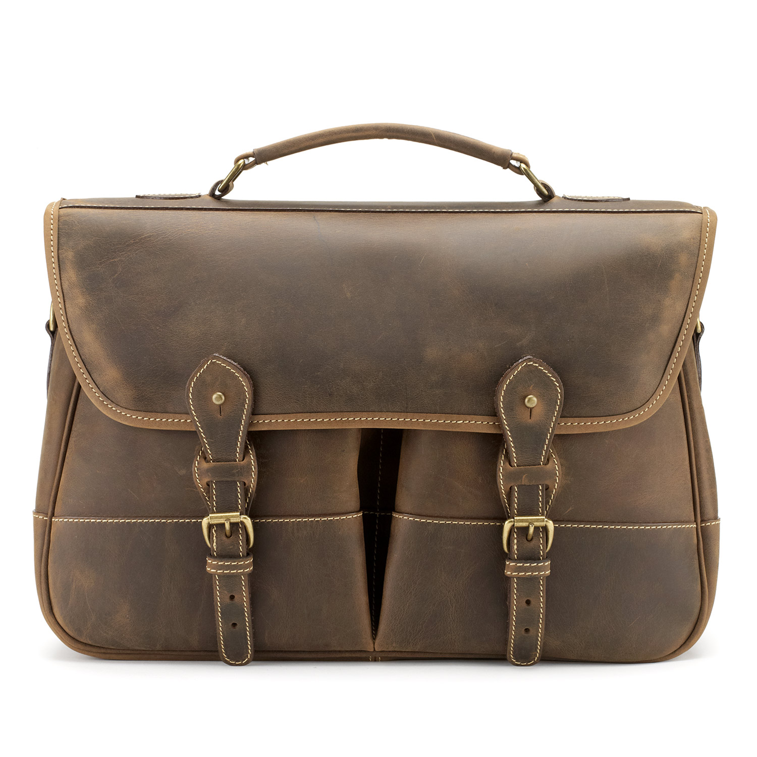 Tusting Clipper Satchel Briefbag in Aztec Leather