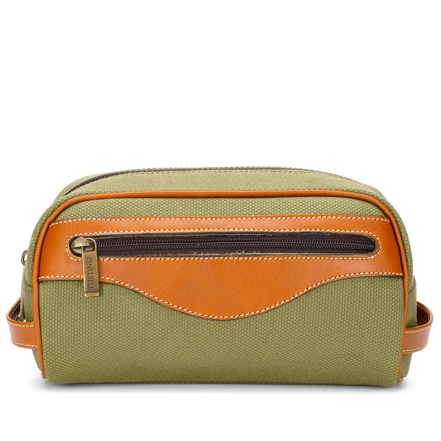 Tusting Excursion Washbag in Canvas and Leather