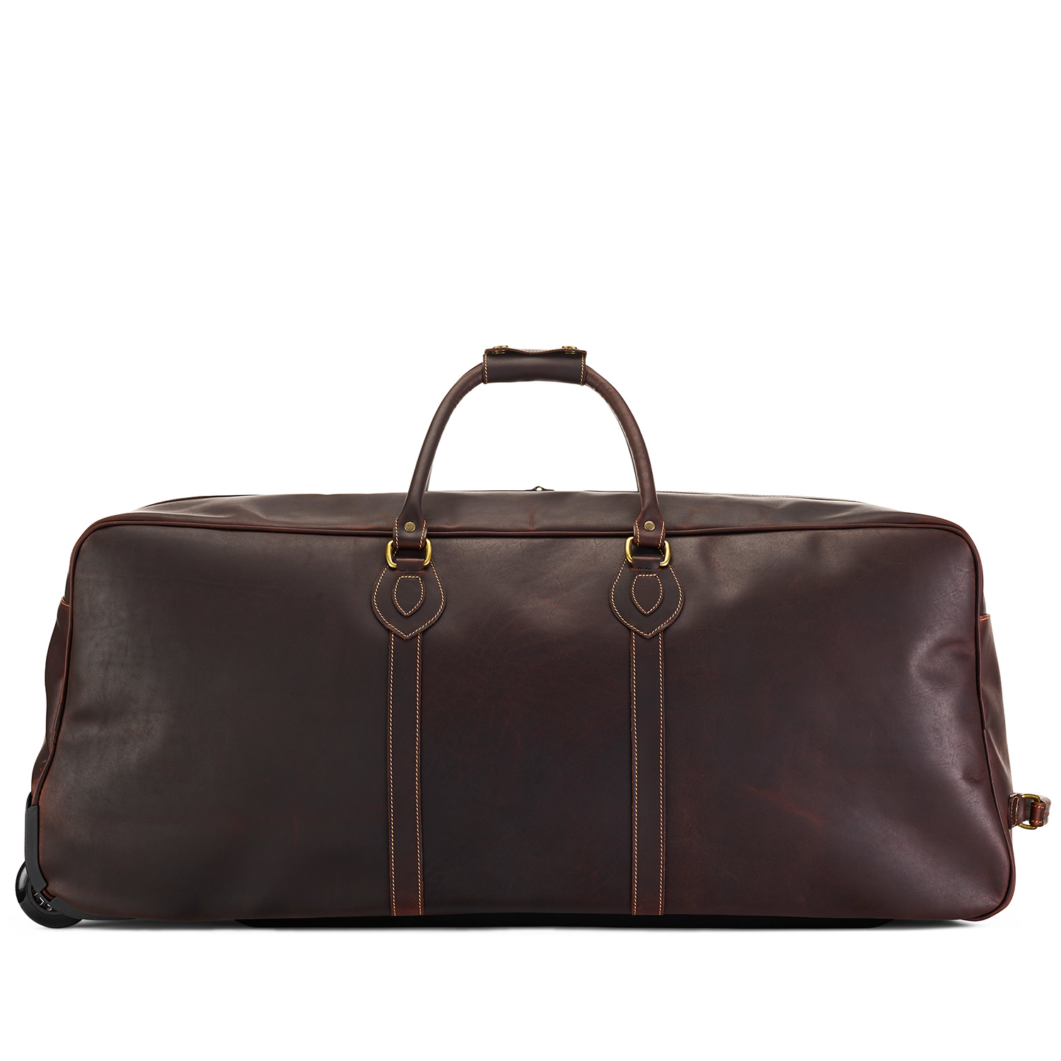 Tusting Grand Tourer Wheeled Holdall (large) in Sundance Floodlight Leather