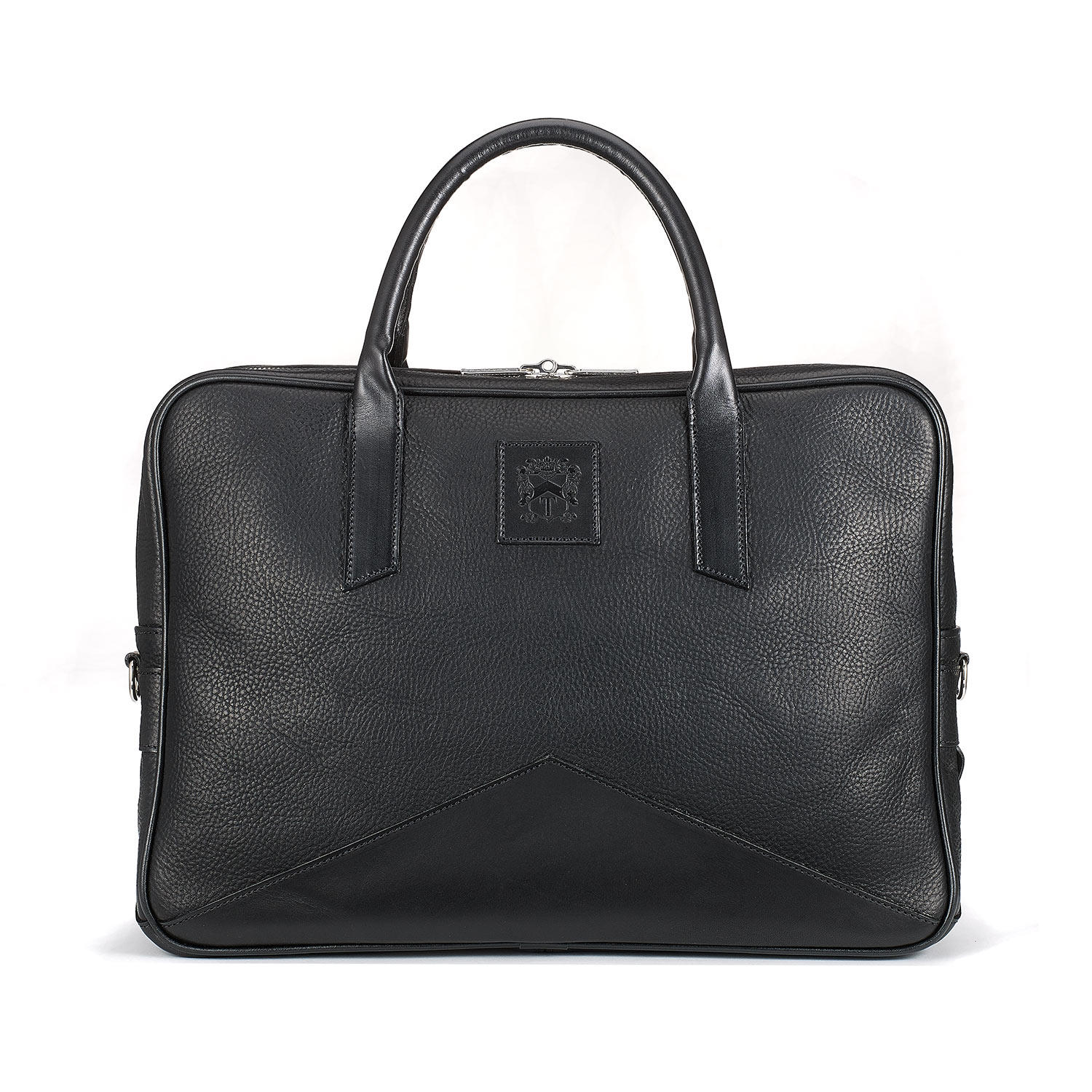 Tusting Black Langford - a modern English leather briefcase