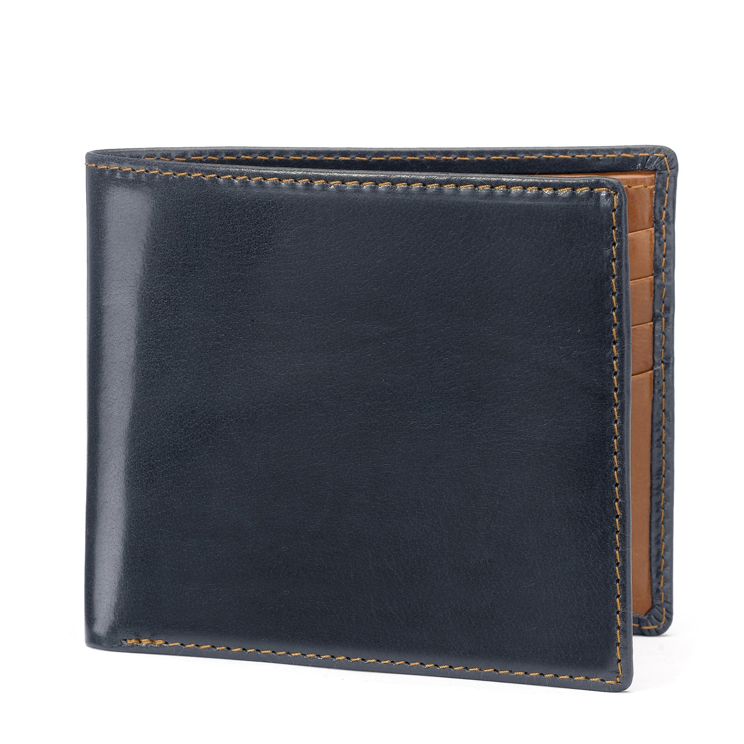 Tusting Navy and Tan Leather Wallet