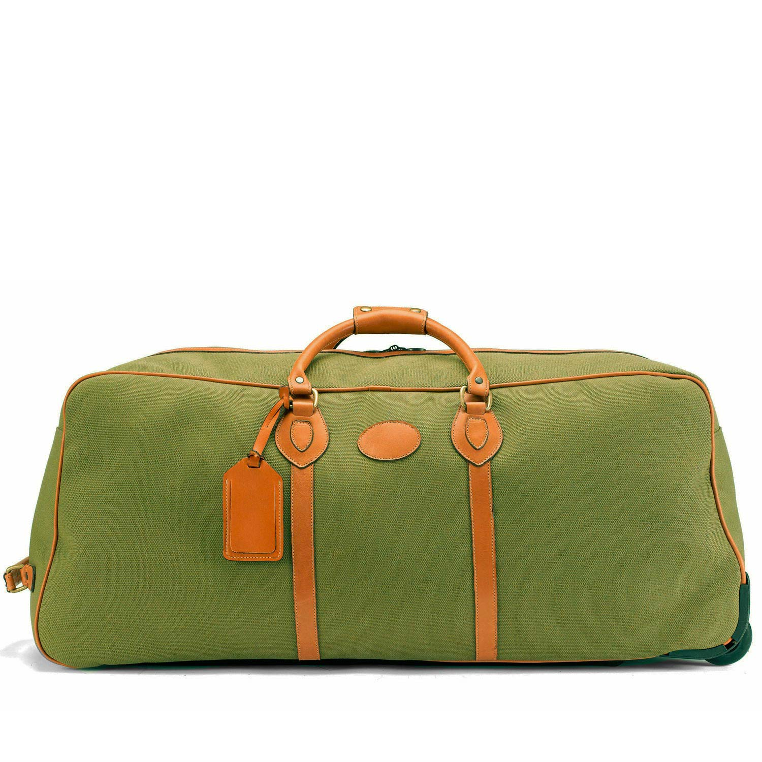 Tusting Grand Tourer Wheeled Holdall (large) in Olive Canvas