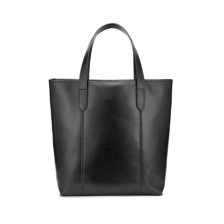 Tusting Leather Chelsea Tote Bag in Black Back