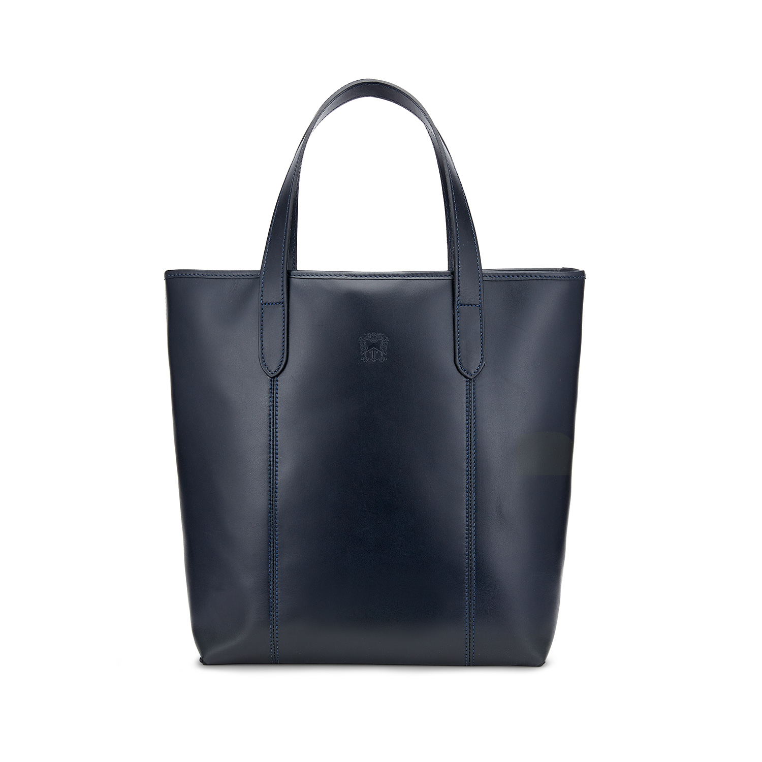 Tusting Leather Chelsea Tote Bag in Navy Front