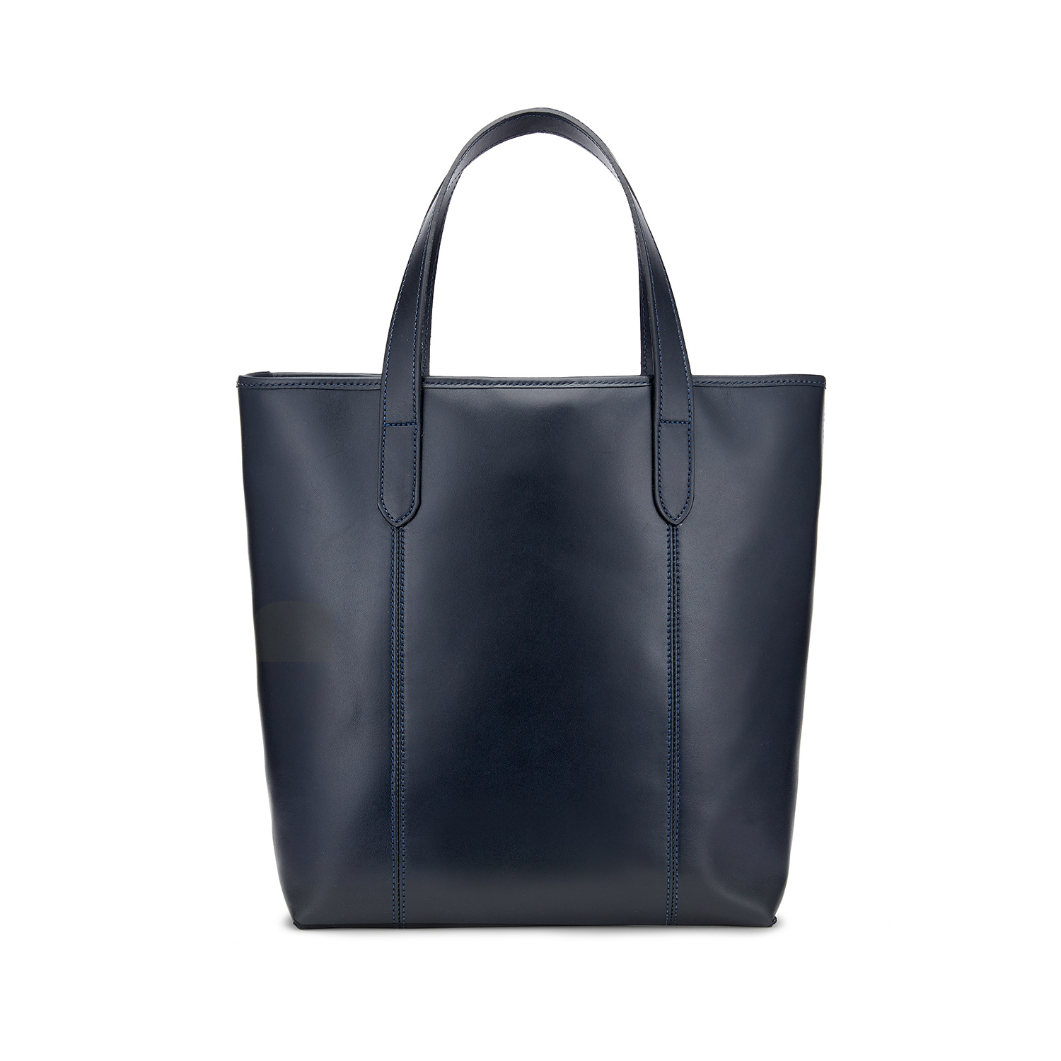 Tusting Leather Chelsea Tote Bag in Navy Rear