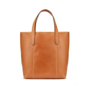 Tusting Leather Chelsea Tote Bag in Tan Front