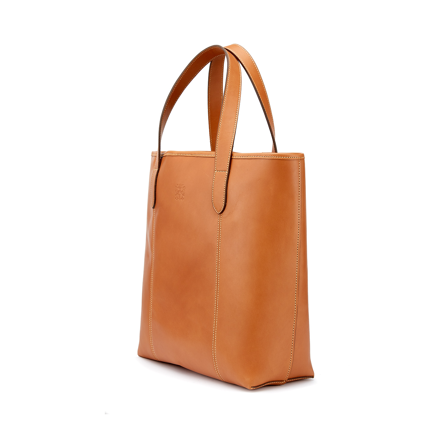 Tusting Leather Chelsea Tote Bag in Tan Angle