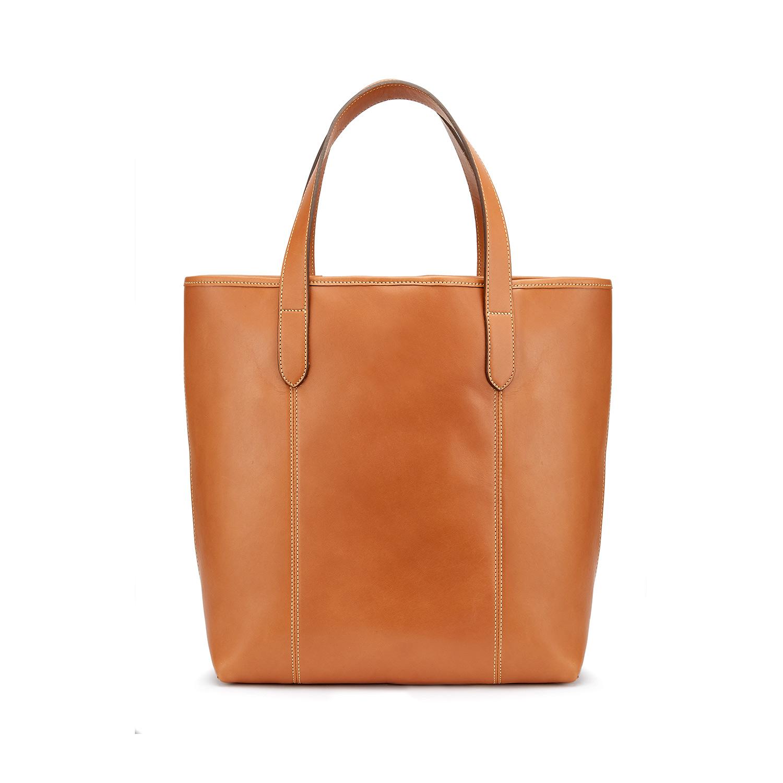 Tusting Leather Chelsea Tote Bag in Tan Rear