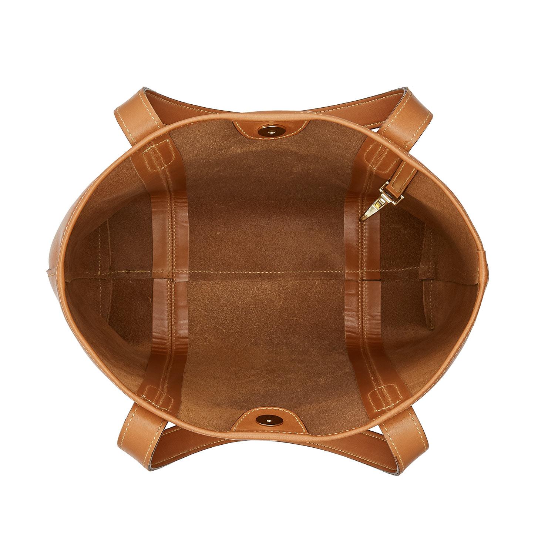 Tusting Leather Chelsea Tote Bag in Tan Inner