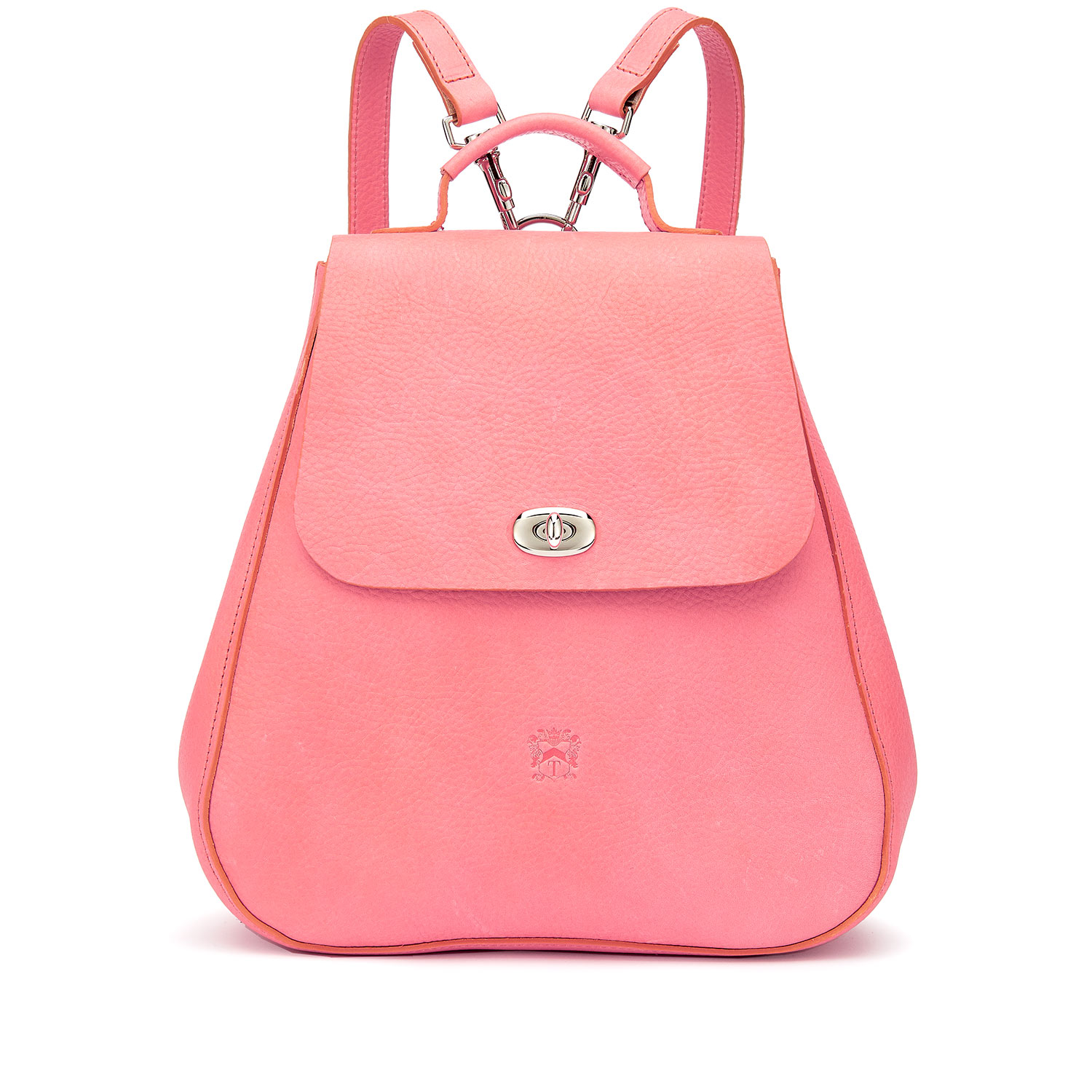 Tusting Eliza Leather Backpack in Cherry Blossom