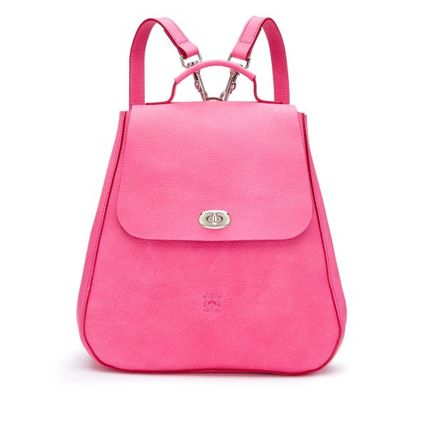 Tusting Eliza Leather Backpack in Peony