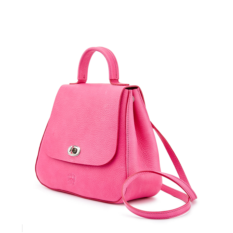 Tusting Leather Holly Handbag in Peony