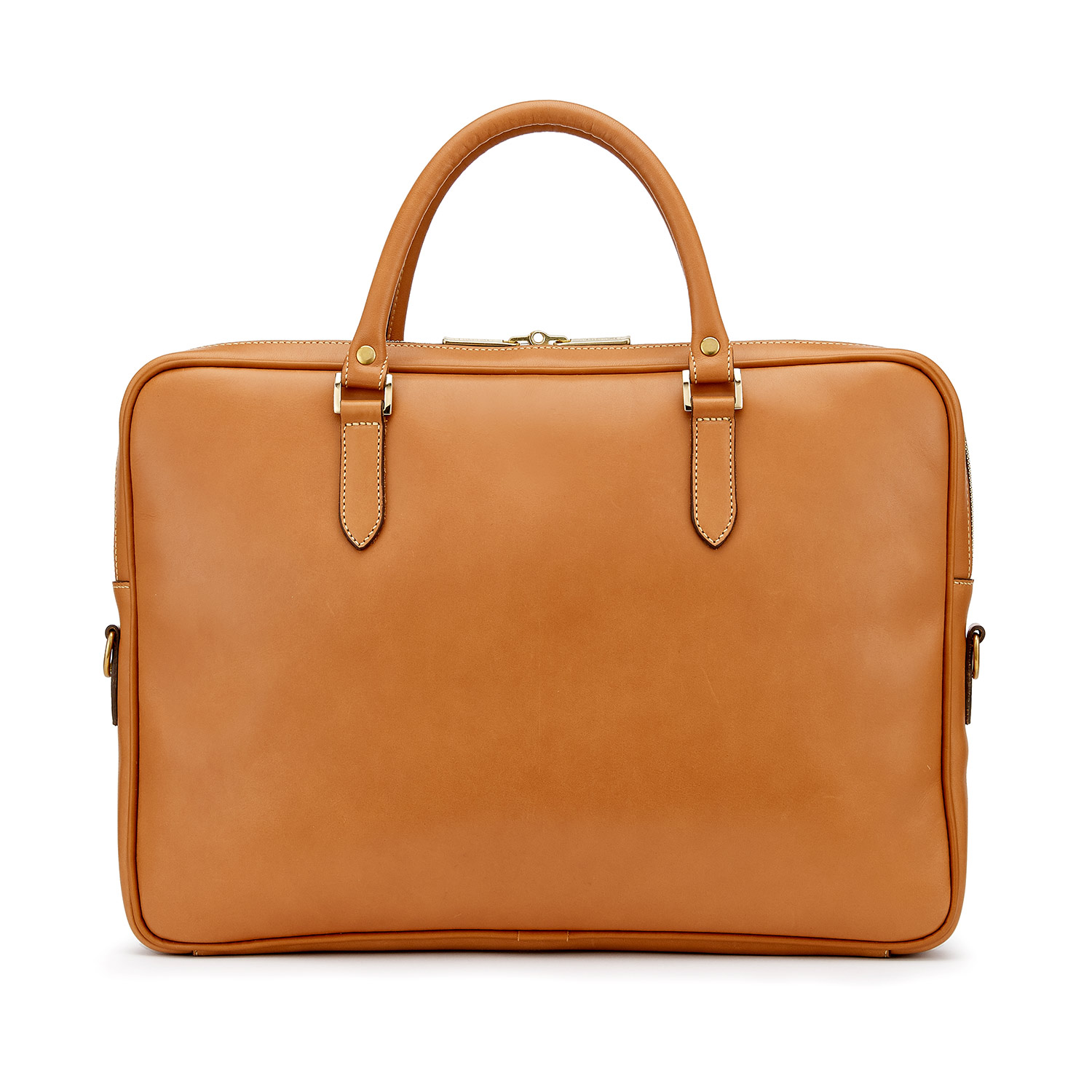 Tusting Piccadilly Leather Briefcase in Tan Rear