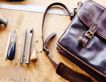 Repairs to a leather bag Tusting FtIm